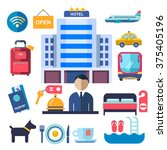 set of icons for hotel service | Shutterstock .eps vector #375405196