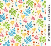 seamless pattern with elements... | Shutterstock .eps vector #375413392