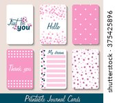 set of vintage creative cards... | Shutterstock .eps vector #375425896