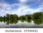 beautiful river reflection | Shutterstock . vector #37544431