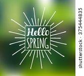 vector hand lettering... | Shutterstock .eps vector #375444835