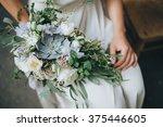 bridal bouquet. wedding. the... | Shutterstock . vector #375446605