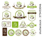 chinese tea labels and badges... | Shutterstock .eps vector #375453046