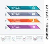 multicolored infographics...   Shutterstock .eps vector #375456145