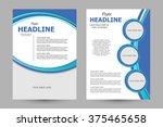 vector flyer template design.... | Shutterstock .eps vector #375465658