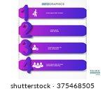 infographic design vector... | Shutterstock .eps vector #375468505