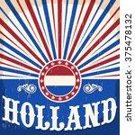 Holland Vintage Old Poster Wit...