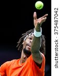 Small photo of NETHERLANDS, ROTTERDAM - Febuary 10th 2016: at the Sportpaleis AHOY during the ATP 500 World Tour ABN AMRO indoor Tennis Tournament Gael Monfils