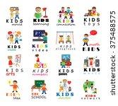 children icons set   vector... | Shutterstock .eps vector #375488575