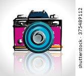 camera icons design  | Shutterstock .eps vector #375489112