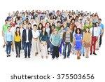 diverse diversity multi ethnic...   Shutterstock . vector #375503656