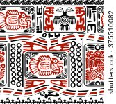 black and red seamless pattern... | Shutterstock . vector #375510082