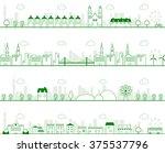 cityscape vector illustration | Shutterstock .eps vector #375537796