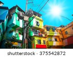 colorful painted buildings of... | Shutterstock . vector #375542872