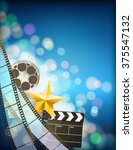 filmstrip background with... | Shutterstock .eps vector #375547132
