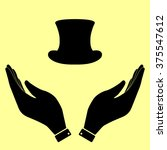 top hat sign. flat style icon...   Shutterstock .eps vector #375547612