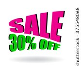 sign of sale 30  off. special... | Shutterstock .eps vector #375548068