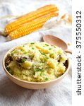 Small photo of Cornmeal mush with meat and onion