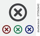 cross icon | Shutterstock .eps vector #375562642