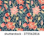 seamless colorful floral... | Shutterstock .eps vector #375562816