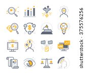 business analysis icons | Shutterstock .eps vector #375576256
