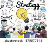 strategy ideas mission...   Shutterstock . vector #375577546