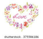 Watercolor. Heart With The...