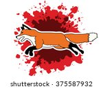 fox running designed on splash...