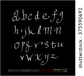 alphabet   number   handwriting ... | Shutterstock .eps vector #375590692
