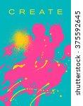 beautiful flyer or invitation... | Shutterstock .eps vector #375592645