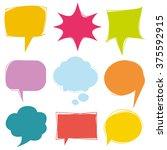 colorful speech bubbles  vector ...   Shutterstock .eps vector #375592915