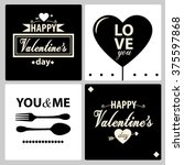 happy valentines day cards with ... | Shutterstock .eps vector #375597868