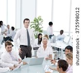 business meeting corporate...   Shutterstock . vector #375598012