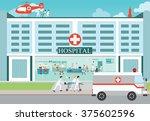 medical emergency chopper... | Shutterstock .eps vector #375602596