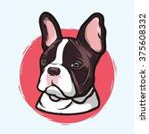 closeup portrait of the... | Shutterstock .eps vector #375608332