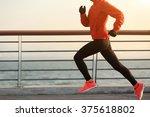 young fitness woman runner... | Shutterstock . vector #375618802