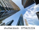 commercial building in the blue ... | Shutterstock . vector #375621226