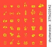 valentine's day  golden love...   Shutterstock .eps vector #375623542