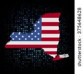 new york map flag on hex code... | Shutterstock . vector #375648628