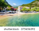 beautiful beach on peljesac... | Shutterstock . vector #375656392