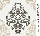 vector floral damask ornament...   Shutterstock .eps vector #375658618