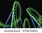 Colorful  Roller Coaster On...