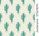 cactus seamless pattern | Shutterstock .eps vector #375678292