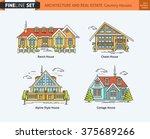 flat line architecture design....   Shutterstock .eps vector #375689266