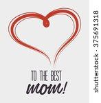 happy mothers day design  | Shutterstock .eps vector #375691318