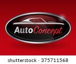 concept automotive logo design... | Shutterstock .eps vector #375711568