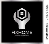 house repair logo. home fix... | Shutterstock .eps vector #375714238