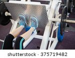 fit woman doing exercises for... | Shutterstock . vector #375719482