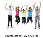 group of teenage friends in... | Shutterstock . vector #37572178