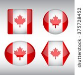 vector   canada flag glossy... | Shutterstock .eps vector #375728452